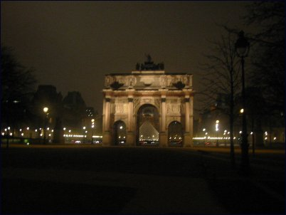Photo: Louvre at night
